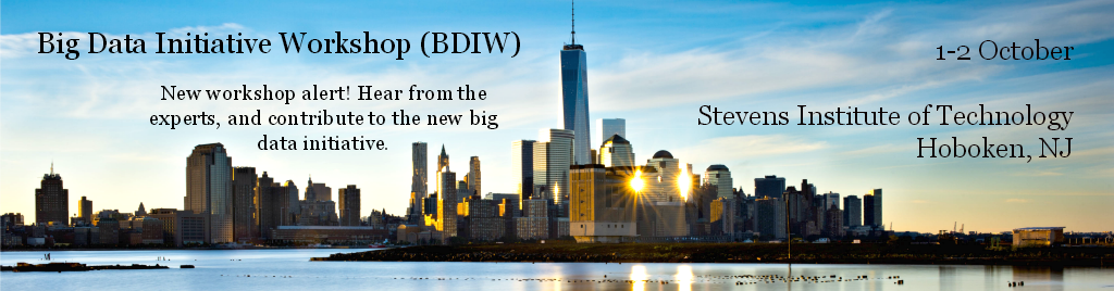 Big Data Initiative Workshop (BDIW)